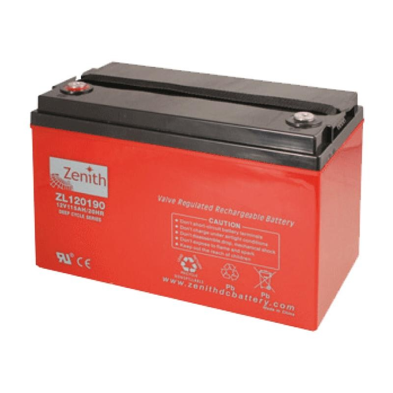 Zenith AGM DEEPCYCLE Batterie 220 Amp.