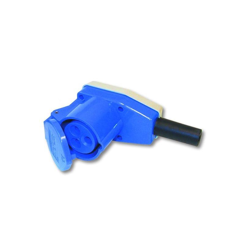 CEE-Winkel-Kupplungsdose 230 Volt, passend für Kupplungssteckd. wink. Abde. 3-pol.